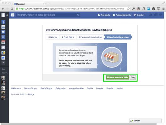 Facebook Sayfası Reklam Ödeme Seçenekleri